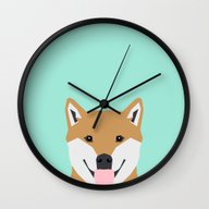 Cassidy - Shiba Inu Gift… Wall Clock