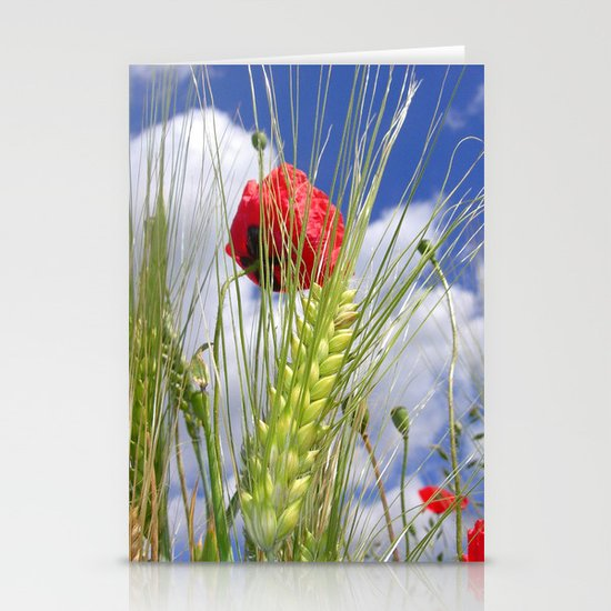 cornfield poppy I Stationery Card