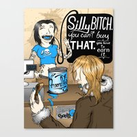 Silly Bitch Canvas Print