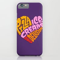 iPhone & iPod Case featuring Pizza Ice Cream and Delusion by Chris Piascik
