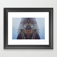 Flag Mountain Framed Art Print