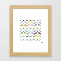 Glasses #3 Framed Art Print