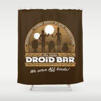 Droid Bar Shower Curtain