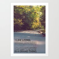 I like living - agatha christie Art Print