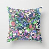 Flower Explosion Throw Pillow