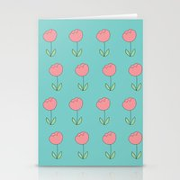 Color Me Pink With Sprin… Stationery Cards