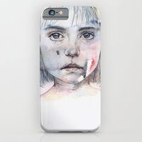 iPhone Cases featuring little girl's shadow by agnes-cecile