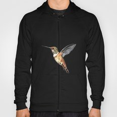 flying hummingbird watercolor sketch Hoody