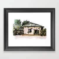 A BAKERY IN THE GAMBIA Framed Art Print