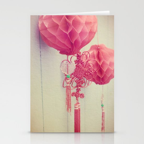 Chinese Lanterns II Stationery Card