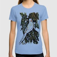 Bird watching Womens Fitted Tee Athletic Blue SMALL