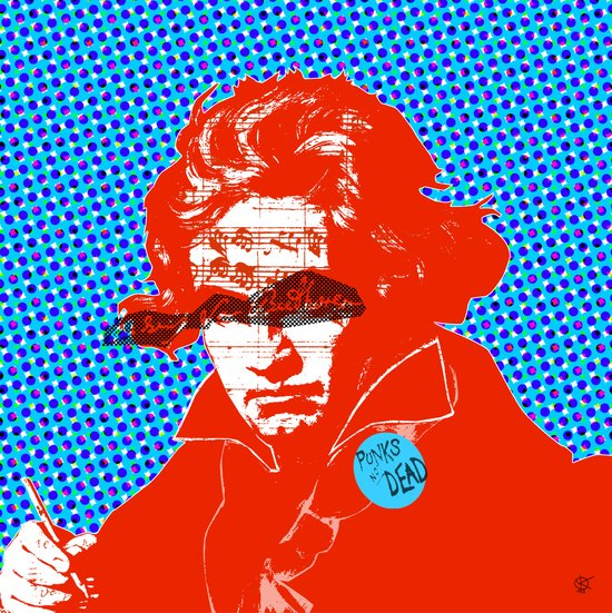 Ludwig van Beethoven 11 · Punks not dead Art Print
