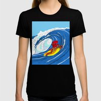 octosurfer Womens Fitted Tee Black SMALL