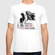 Fair Game SMALL White Mens Fitted Tee