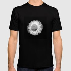 Fleabane B and W Black Mens Fitted Tee SMALL