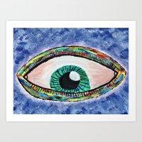 Technicolor Eye Art Print