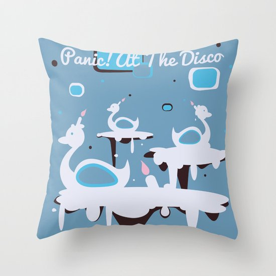Panic! at the Disco - Candle Swans Throw Pillow