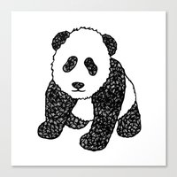 Panda Mania Canvas Print