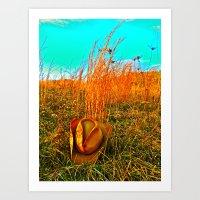 Lost Cowboy Hat  Art Print