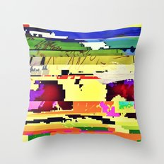 Paint On The Monitor #2 Throw Pillow