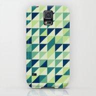 Blue And Green Geometric… Galaxy S5 Slim Case