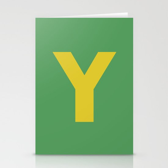 Y is for... Stationery Card