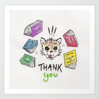 Otter Thanks! Art Print