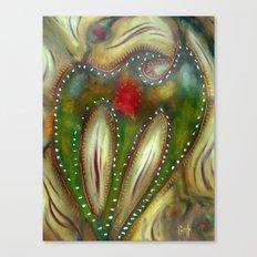 Green Raven Canvas Print