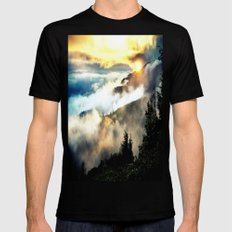 Sunrise mountains Mens Fitted Tee Black SMALL