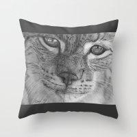 European Lynx Throw Pillow