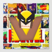 Old School Wolverine Canvas Print