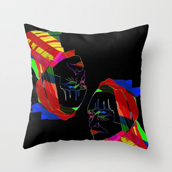 Colours Throw Pillow