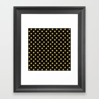 Chic Glam Gold and Black Stars Framed Art Print
