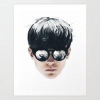 Sea Boy Portrait Art Print