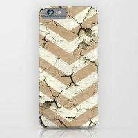 Peeling Chevrons Taupe iPhone 6 Slim Case