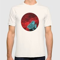 Space Rabbit Mens Fitted Tee Natural SMALL