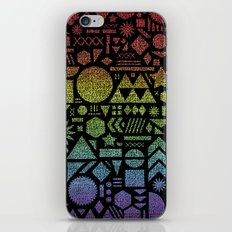 Modern Elements with Spectrum. iPhone & iPod Skin