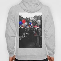 Red, Blue and White Hoody