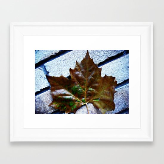 Against The Wall Framed Art Print
