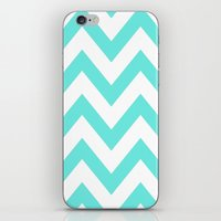 TEAL CHEVRON iPhone & iPod Skin
