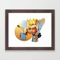 Skin Deep | Collage Framed Art Print