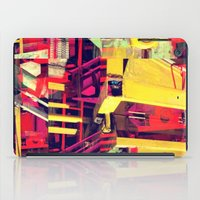 Industrial Abstract Red iPad Case