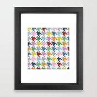 Houndstooth Colour Framed Art Print