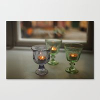 Swedish Candelight Canvas Print
