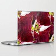 Laptop & iPad Skin featuring Poinsettia - Seamless In… by Bella Mahri-PhotoArt…