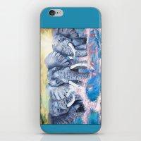 Elephants In Crashing Wa… iPhone & iPod Skin