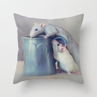 Jimmy And Snoozy Throw Pillow