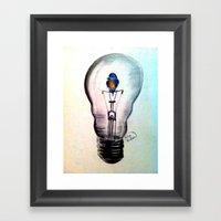 Sparks Fly Framed Art Print