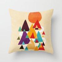Let's Visit The Mountain… Throw Pillow