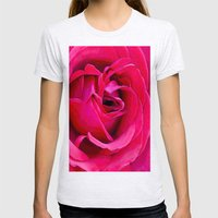 Rose Womens Fitted Tee Ash Grey SMALL